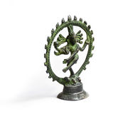 跳舞的希瓦的小雕象 免版税库存照片