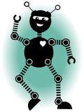 跳舞的快活的机器人 免版税图库摄影
