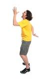 跳舞的愉快的人年轻人 免版税库存照片