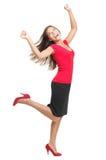 跳舞的欲死欲仙的喜悦妇女 免版税库存照片