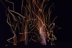跳舞的火花 库存照片