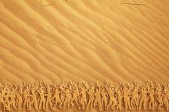 跳舞的许多人员沙子 免版税图库摄影