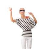 跳舞的青少年的妇女 免版税库存图片