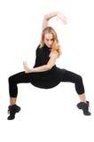 跳舞的exerising的妇女 免版税库存照片