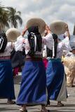 跳舞盖丘亚族人的妇女户外 库存照片