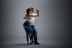 跳舞社会danse的夫妇 库存照片