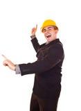 跳舞空闲时间的生意人 免版税图库摄影