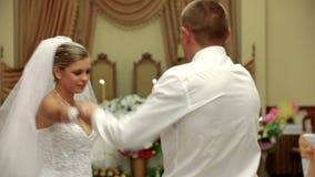 跳舞第一个婚礼 股票视频