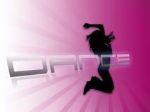 跳舞紫色剪影白色的背景 免版税库存图片