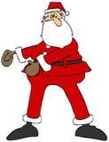 跳舞绣花丝绒的圣诞老人 向量例证