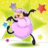 跳舞绵羊 库存照片