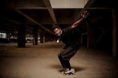 跳舞美国黑人人的情感画象 免版税库存图片