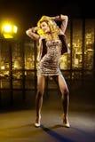 跳舞聪明的妇女的画象 免版税图库摄影