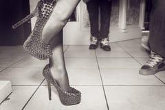 跳舞脚跟 免版税库存图片