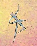跳舞芭蕾舞女演员 墨水图画和油画 皇族释放例证