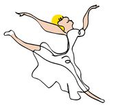 跳舞芭蕾舞女演员 免版税图库摄影