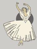跳舞芭蕾舞女演员 库存图片