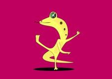 跳舞蜥蜴 免版税图库摄影