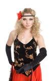 跳舞西班牙佛拉明柯舞曲的女孩 免版税库存照片
