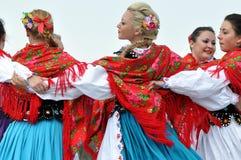 跳舞走读女生遗产匈牙利 免版税库存照片