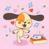 跳舞迪斯科狗 向量例证