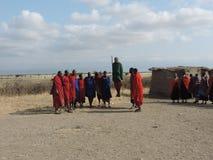 跳舞Maasai 库存图片