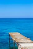 跳船在海 免版税库存照片