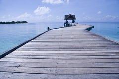 跳船马尔代夫 免版税库存图片