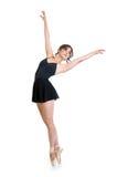 年轻跳芭蕾舞者女孩被隔绝 免版税库存照片