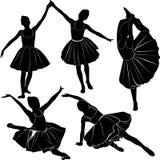 跳芭蕾舞者女孩 免版税库存图片