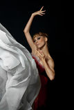 跳芭蕾舞者显示 库存照片