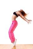 跳芭蕾舞者现代体育运动妇女 免版税库存照片