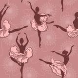 跳芭蕾舞者的无缝的样式 库存照片