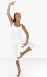 跳芭蕾舞者纵向  图库摄影