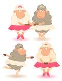 跳芭蕾舞者绵羊 免版税库存图片