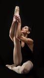 跳芭蕾舞者藏品姿势 免版税库存照片
