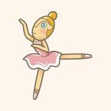 跳芭蕾舞者题材元素传染媒介, eps 免版税库存照片
