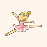 跳芭蕾舞者题材元素传染媒介, eps 图库摄影