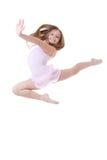 跳芭蕾舞者飞跃 库存照片