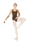 跳芭蕾舞者年轻人 免版税库存照片