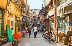 跳蚤市场在开罗伊斯兰老城 库存图片