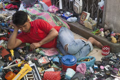 跳蚤市场在曼谷 免版税库存照片