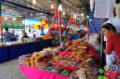 跳蚤市场在泰国 免版税库存照片