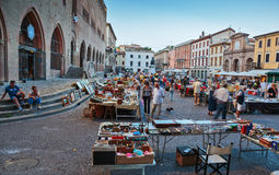 跳蚤市场在里米尼,意大利 免版税图库摄影