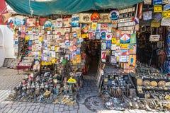 跳蚤市场在马拉喀什,摩洛哥 免版税图库摄影