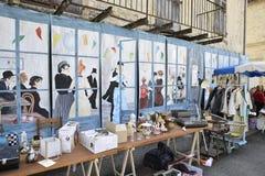 跳蚤市场在Cornac,法国 免版税图库摄影