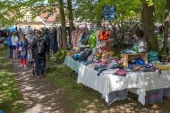 跳蚤市场在Liseleje,丹麦 库存图片