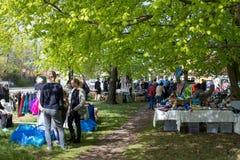 跳蚤市场在Liseleje,丹麦 免版税库存图片