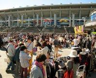 跳蚤市场在Shin横滨日本 库存图片