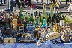 跳蚤市场,希罗纳,西班牙 免版税库存图片